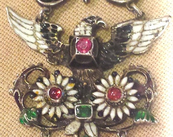 Austro- Hungarian Eagle Morif Pendant From The 1870s in Sterling