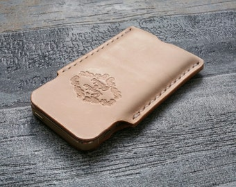 Leather iphone sleeve, iphone case, iphone pouch