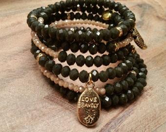 Bead Bracelet / Wrap Bracelet / Swarovski Bracelet / Special Occasion Jewelry