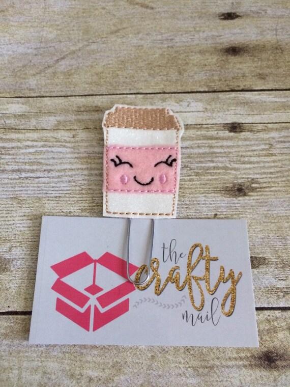 Happy Coffee Glitter Planner Clip/Paper Clip/Feltie Clip.