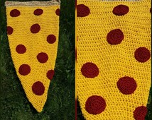 Ready to ship!!ADULT PIZZA slice blanket pocket by unicorn crochet