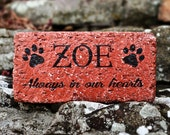 Loss of Pet Memorial Stone for Dogs, Cats. Personalized Grave Marker. Labrador, Golden Retriever, German Shepherd, Bulldog, Beagle, Terrier