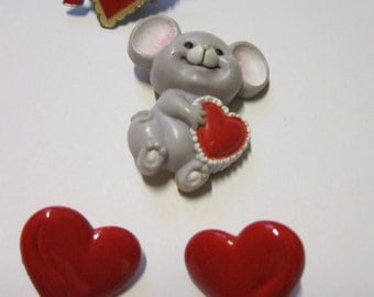 Valentine's Day Special Vintage Pins and Earrings Russ