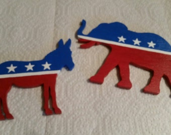 Political Party Wooden Magnet