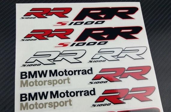 BMW Motorrad SRR HP Two Decal Sheets Set Stickers - Bmw motorrad motorsport decals