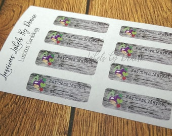 Farmers Market Planner Stickers