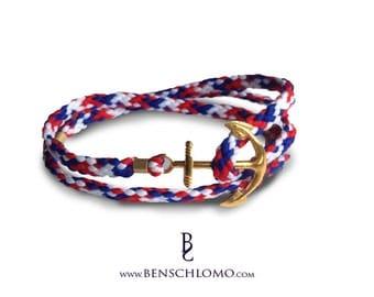 Anchor bracelet, viva la france!, nautical bracelet
