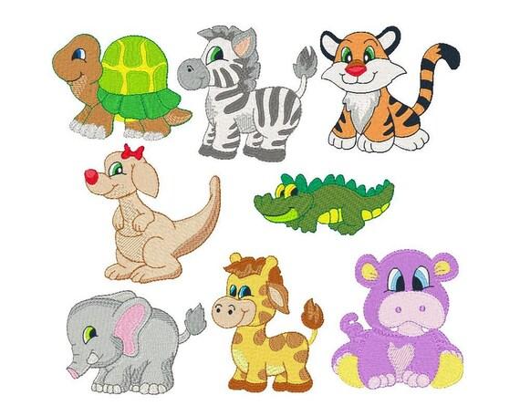 Cute animal machine embroidery designs fill stitch animals