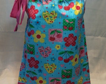 Blue and Pink Pillowcase Dress- 12month and 3T