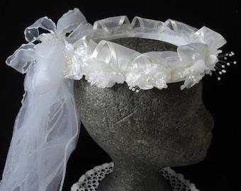 Wedding / communion head band and veil  (01799- 01800-01801-01802)