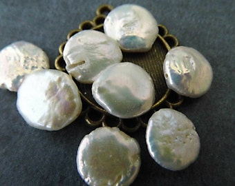 White Coin Pearl Beads, Bead Supplies, Jewelry