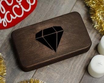 "Clutch ""Wooden diamond"""