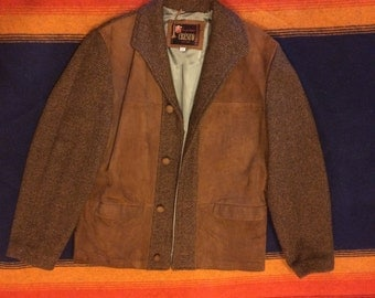 Mens Suede Leather Sport Jacket