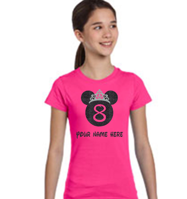 Disney Birthday Girl shirt Disney Birthday Shirt YOUTH