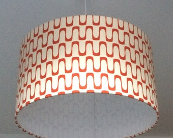 Wavelength Red, 45cm Dia Lampshade