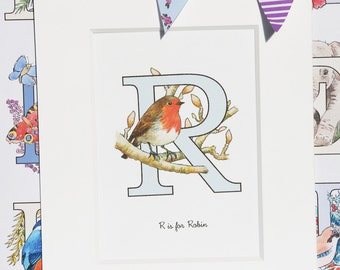 Alphabet Pictures - R : Personalised Prints