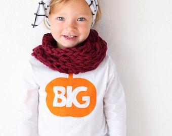 Big Pumpkin Shirt for Kids - Halloween Baby Shirt - Fall kids Outfit - Pumpkin Patch Pictures - Baby Shower Gift - Little Pumpkin Shirt