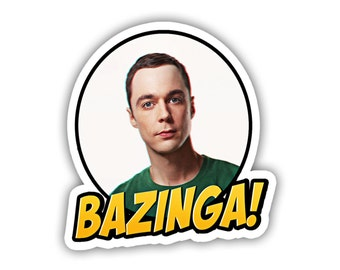 Sheldon Cooper Bazinga! Big Bang Theory Tv Show Vinyl Decal Sticker