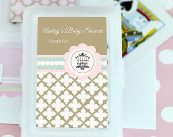 Personalized Playing Cards 24 Pieces Birdcage Wedding Favor Rustic Ideas