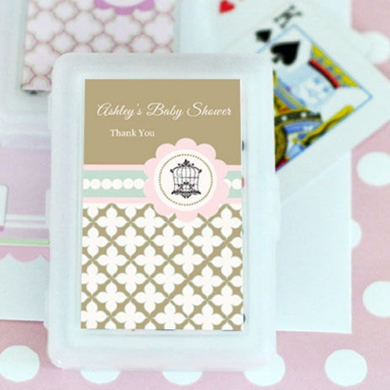Personalized Playing Cards Birdcage Wedding Favor Cards