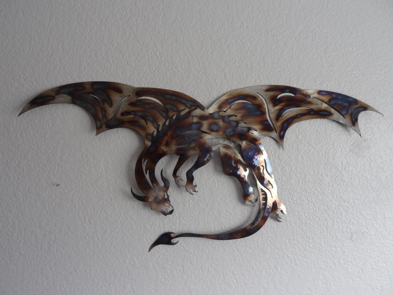 Dragon Of Steel Home Decor Dragon Metal Dragon Wall Art