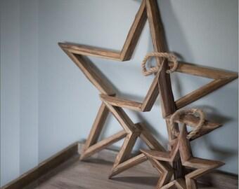 Wooden Decorative Stars. 3 Sizes.
