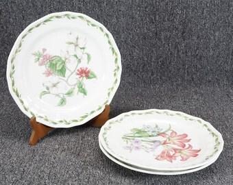 "3 Noritake Casual Gourmet ""Gourmet Garden"" Dinner Plates 7940003/4/6 - 10 5/8"""