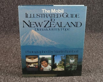 The Mobil Illustrated Guide To New Zealand By Pope C.1982