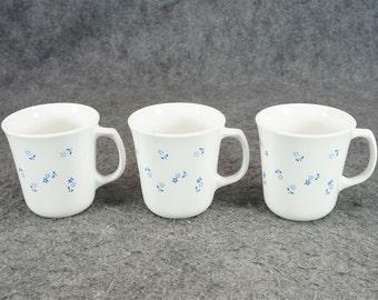 Provincial Blue Pattern Coffee Mug Set Of 3