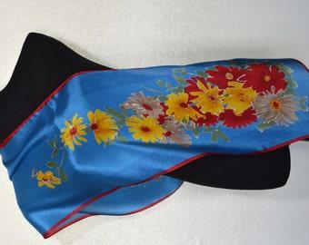 Vintage Vera floral silk scarf.