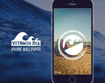 iPhone wallpaper, mobile phone, cell phone, vitamin sea, ocean, beach, waves, surfer, surfing, summer, adventure, lock screen, background