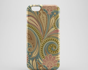 Pastel Leaf Retro Phone case,  iPhone X Case, iPhone 8 case,  iPhone 6s,  iPhone 7 Plus, IPhone SE, Galaxy S8 case, Phone cover, SS126a