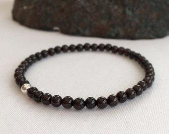 Garnet bracelet, gemstone bracelet, January birthstone bracelet, January gift, birthstone jewellery, girlfriend gift, sister gift
