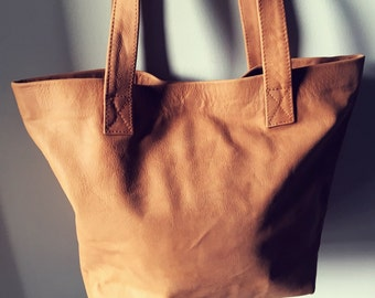 Brown Leather Tote,Leather tote bag.Handmade leather tote,purse bag with zipper. Women Leather Bag,Tote Bag,Leather school bag,Brown leather
