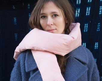 "Down Scarf PINK - ""Marshmallow"""