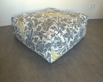 Made to Order Square Pouf Ottoman Cover