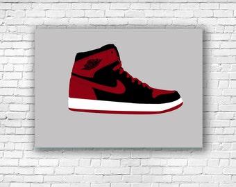 Nike Air Jordan 1 Illustration Print A4