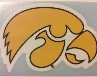 Iowa Hawkeyes Premium Die-Cut Vinyl  Decal, Yeti,