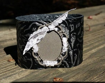 Sweet~Face Leather Cuff Bracelet