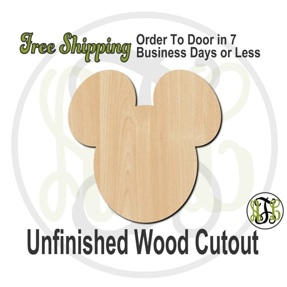 """Mouse Boy- 1"""" to 6"""" Minis- No. 10021- Small Wood Cutout, unfinished, unpainted, wood craft, laser cut, wooden blank, ornament"""
