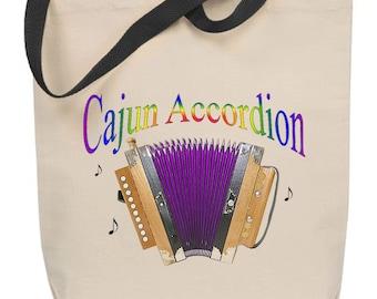 Cajun Accordion Tote Bag
