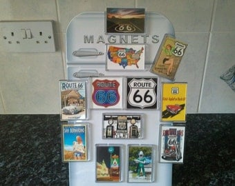 Route 66 Fridge Magnet Set. Americana, USA. The Mother Road. Gift Idea