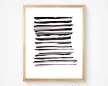 Abstract art, Minimalist print, Print, Nordic design, Wall art, black and white, Scandinavian print, abstract art print, abstract print