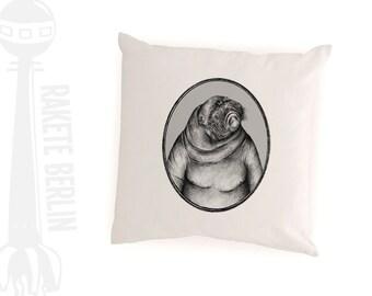 cushion cover  'Walrus drawing'