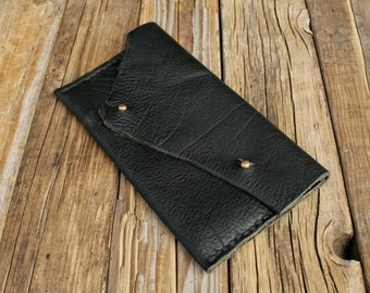 The Black Bear Clutch No.1, leather clutch, minimalist clutch, small purse, black leather tote, card holder makeup bag