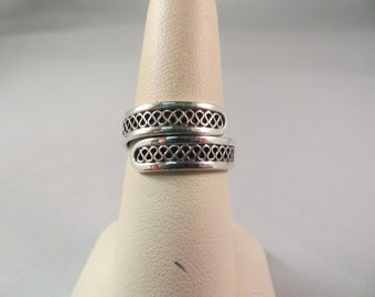Sterling Silver By-Pass Ring