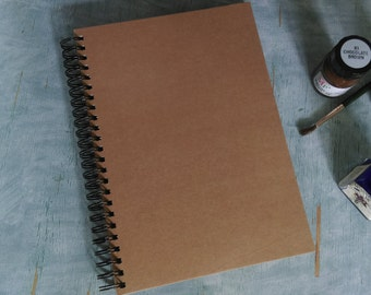 Blank recycled ART journal A4 or A5 kraft card book