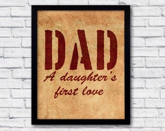 Fathers day gift, fathers day art, dad you are so loved, fathers poster, fathers quote, fathers day, fathers day quote, fathers print,