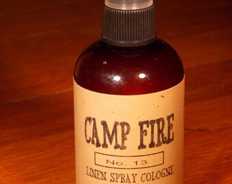 CAMP FIRE Linen and Cologne Spray 4 ounce Bottle