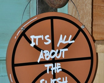 Wood and Paint Basketball Door Hanger & Basketball door sign | Etsy Pezcame.Com
